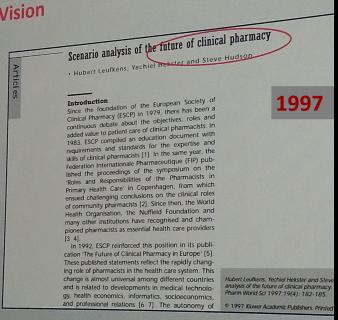 Budúcnosť klinickej farmácie v roku 1997