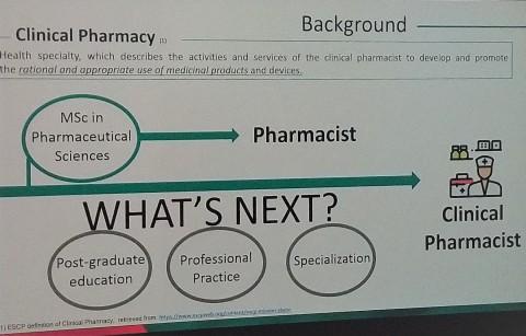 Definícia klinickej farmácie na sympóziu ESCP v Ľubľani október 2019