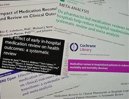 Analýza farmakoterapie a rekonciliácia v publikáciách na sympóziu ESCP
